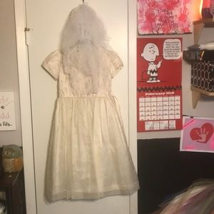 Childs off white formal dress